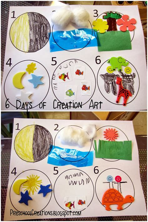 craft creations for preschool creations 6 days of creation activities