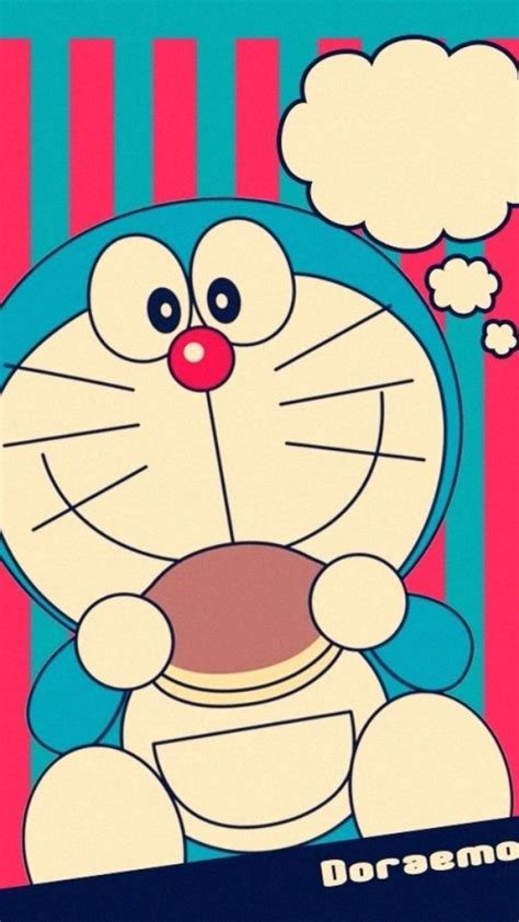 wallpaper doraemon iphone 5 doraemon loves to eat dorayaki wallpaper free iphone