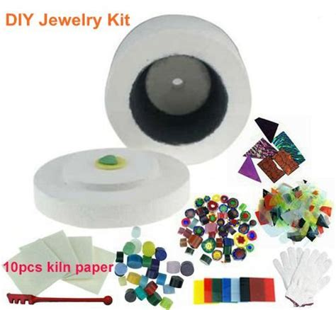 9pcs Set Of Microwave Kiln Kits For Diy Glass Jewelry In
