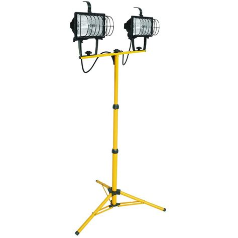 light stand lithonia lighting 2 light halogen portable tripod stand