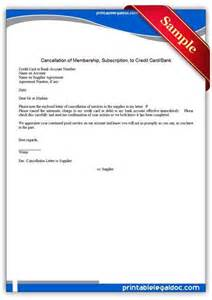 Card Cancellation Letter Format Credit Card Letter Template Credit Card Cancellation