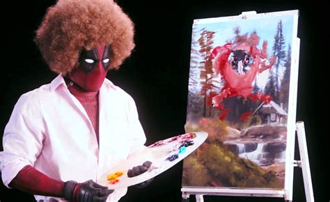 bob ross painting deadpool bob ross deadpool costume diy guides for