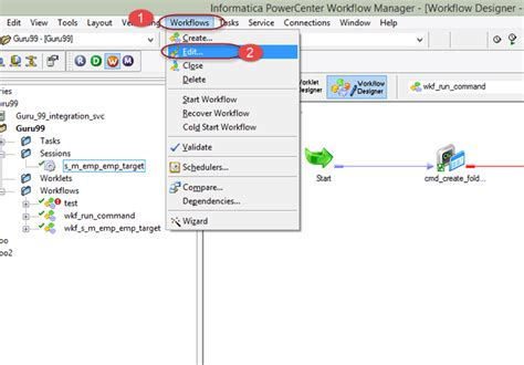 how to create a workflow in informatica workflow in informatica create task parameter reusable