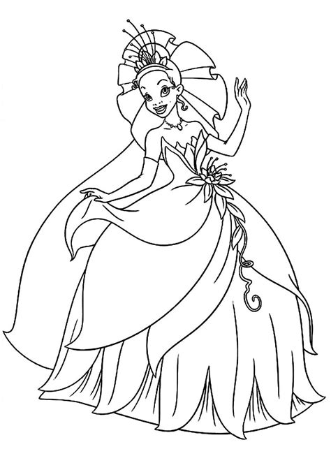 coloring pages princess tiana free coloring pages of princess