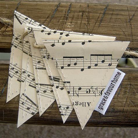 Birthday Decorations Home vintage music mini bunting by grace amp favour home