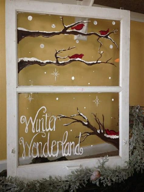 window painting signs christmas holiday seasonal artist feine fensterbilder zu weihnachten und winterzeit