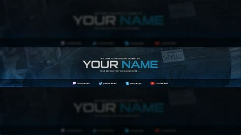 how to make a youtube banner templates