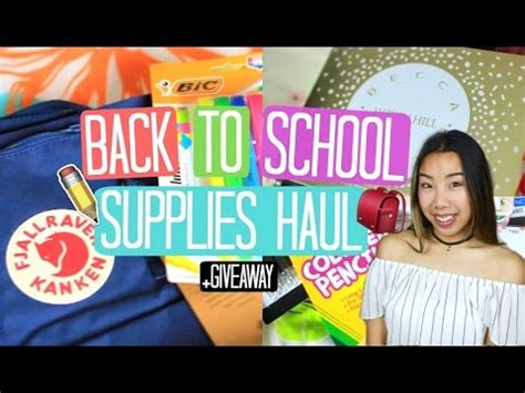 Back To School Supplies Giveaway 2017 - back to school supplies haul giveaway 2016 2017 closed emily dao youtube