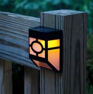 Solar powered wall led lights lamp outdoor landscape garden yard fence