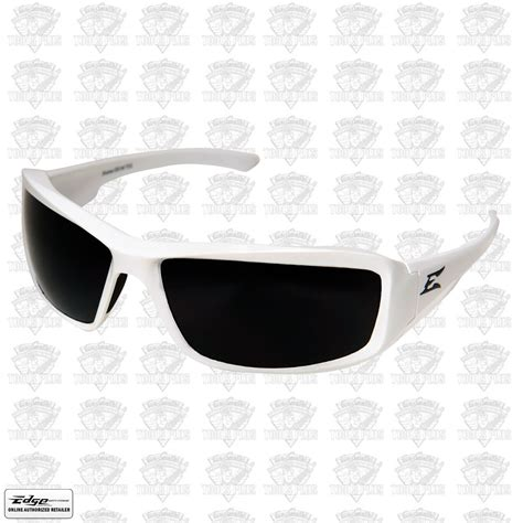 edge eyewear txb246 brazeau safety glasses white w smoke