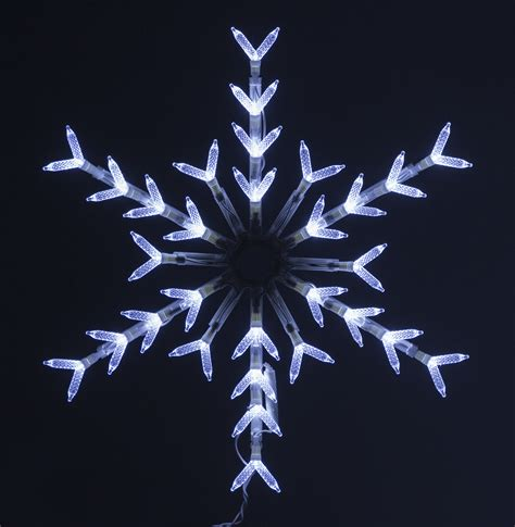 30 light cool white snowflake window decoration