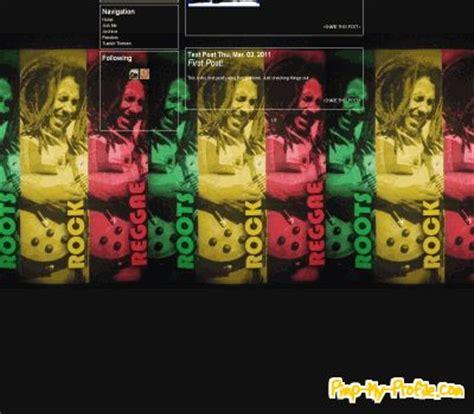 facebook themes reggae roots rock reggae tumblr themes pimp my profile com