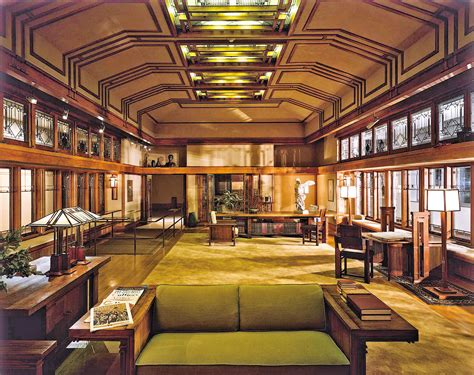 frank lloyd wright living room merchant s house hints and echoes