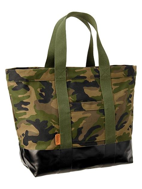 Gap Productred Canvas Tote by Gap Coated Canvas Tote In Green For Camouflage Lyst