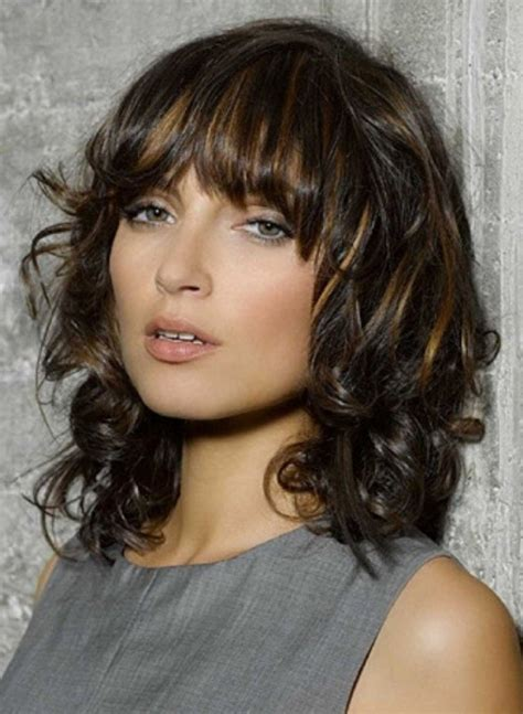 medium hairstyles curly hair with bangs 17 fashionable hairstyles with pretty fringe for 2015