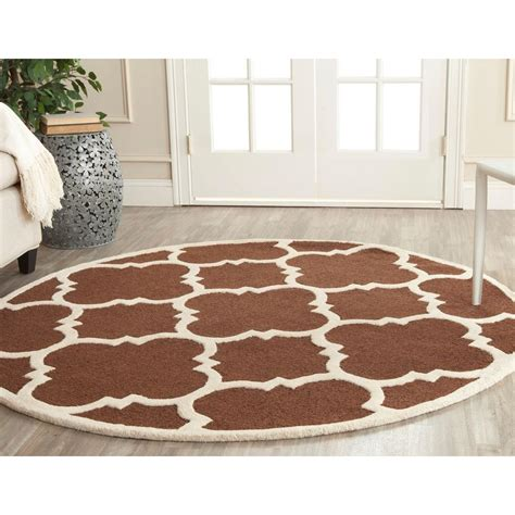 rugs 6 ft safavieh cambridge brown ivory 6 ft x 6 ft area rug cam140h 6r the home depot
