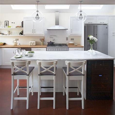 modern kitchen breakfast bar modern white shaker kitchen with breakfast bar