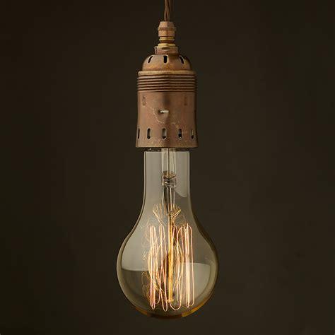 edison bulb pendant l edison style light bulb e40 antiqued brass pendant