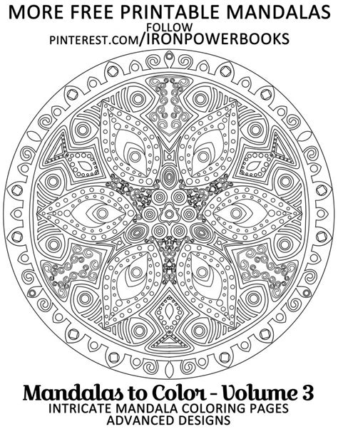 intricate mandala coloring pages free 17 best images about mandala antistress on