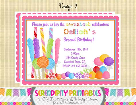Candyland Baby Shower Invitations by Candyland Invitation Use For Birthday Baby Shower Birth