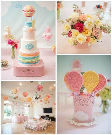 balloon themed birthday party carried away hot air balloon birthday party via kara s