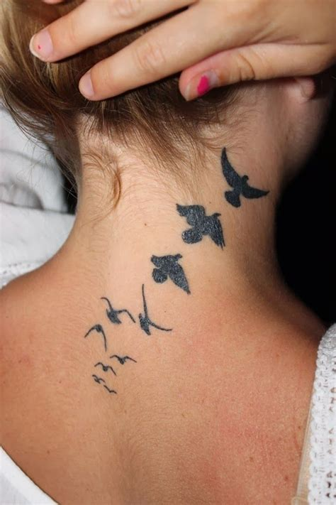 small simple girl tattoos small neck tattoos for best design