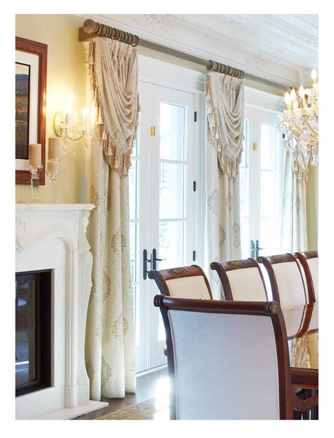 swag curtains for dining room dining room drapery curtains drapes pinterest