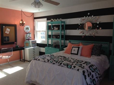 teal and coral bedroom teal and coral bedroom for girls with vertical striped