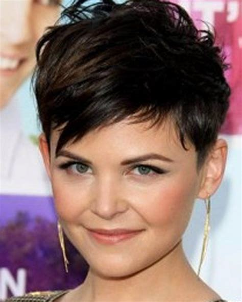 fat face pixie cut round fat face hairstyles short haircuts with bangs for