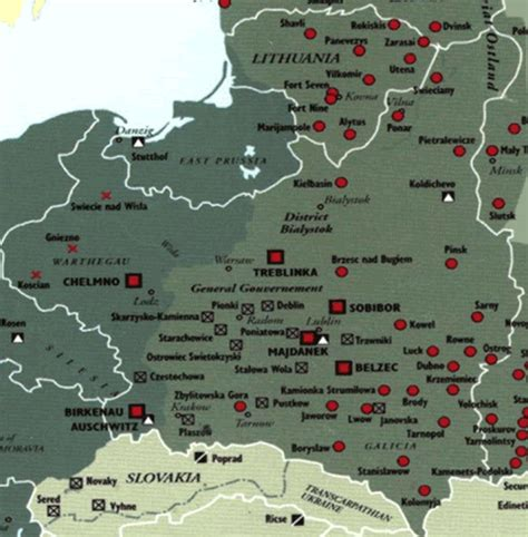 map  concentration camps  poland lithuania