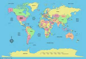 the united states in the world map world map shows country size based on population and not