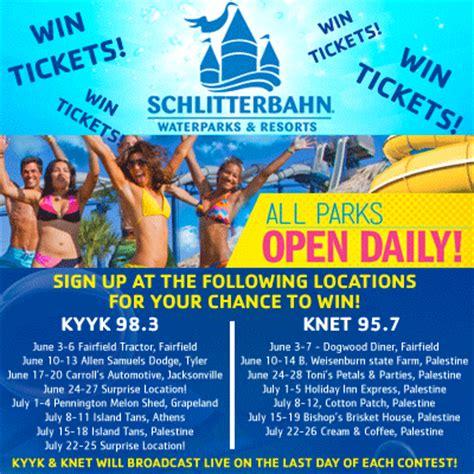 kyyk knet summer of fun tour schlitterbahn ticket giveaway - Schlitterbahn Ticket Giveaway