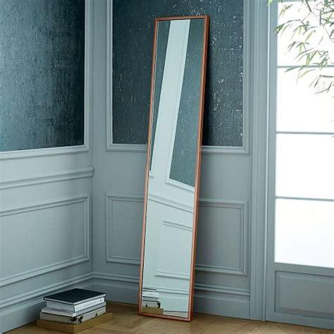 metal framed narrow floor mirror west elm