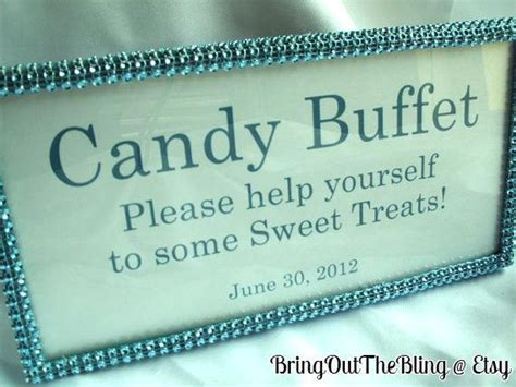 candy buffet sign party time pinterest