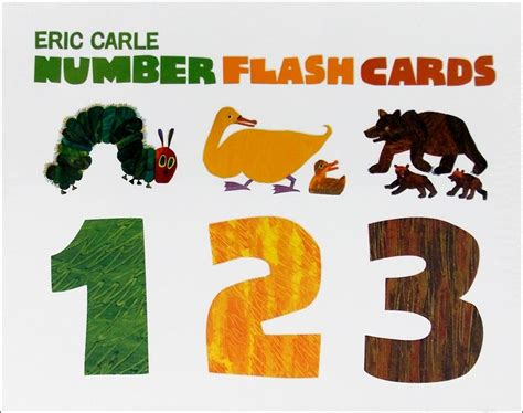 Book Toys Flash Card eric carle number flash cards stevensons toys