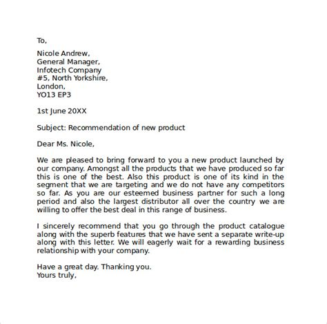 Formal Letter Template On Word Sle Standard Business Letter Format 7 Free Documents In Pdf Word