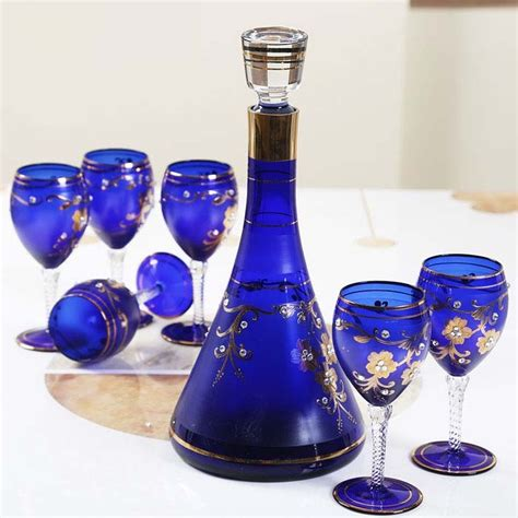 cheap glass wine glasses decorated wine glasses gifts supplier painted wine glass and glass decanters wholesale