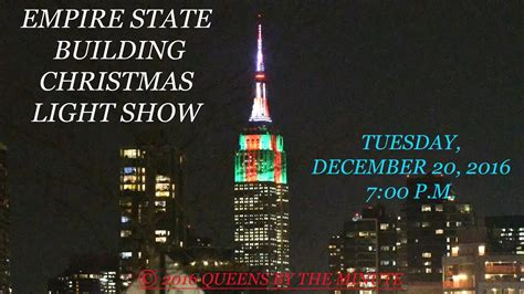 empire state building christmas light show youtube