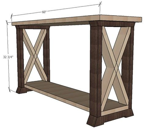 console table design box leg console table sawdust girl 174