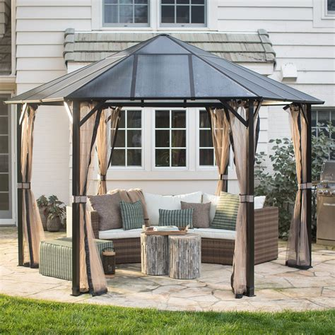 gazebo shop belham living 13 ft santa clara hexagonal polycarbonate