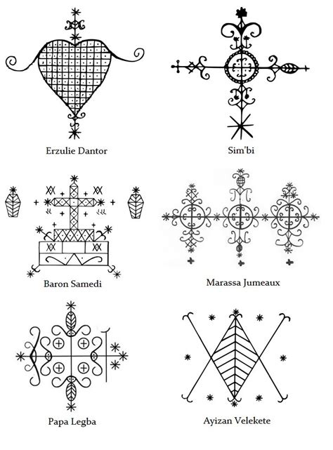 hatian voodoo veve symbols meaning v 233 v 233 of various loa of the voodoo religion pathfinder