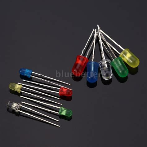 diode component 300pcs 3mm 5mm led electronic light emitting diode component resistance o4q2 ebay