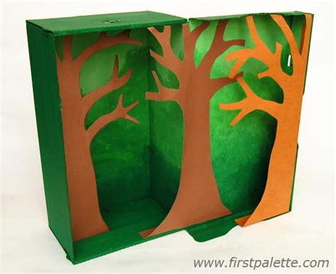 printable forest diorama rainforest habitat diorama craft kids crafts