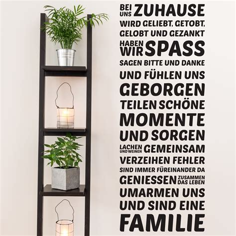 bei uns zuhause wall decal bei uns zuhause wall stickers