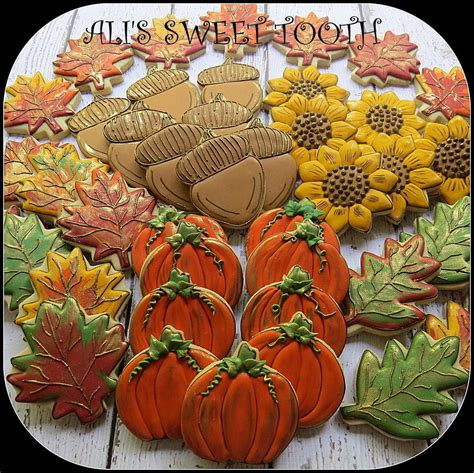 fall cookie decorating ideas a stunning platter of fall cookies cookies for all