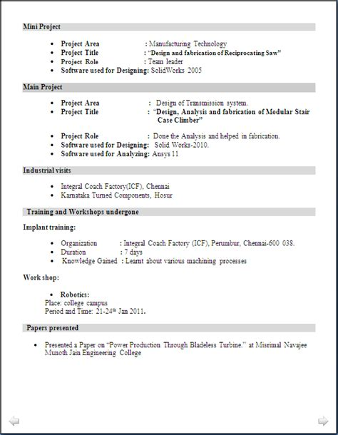resume format for production engineer fresher resume of a mechanical engineer fresher resume ideas