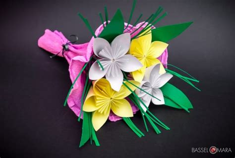 Origami Bouquet Of Flowers - origami flower bouquet cool digital photography
