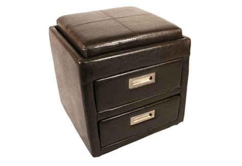 ottoman with drawers bedside ottoman seat with drawers sharper image