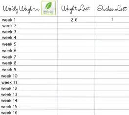 Weekly Weight Loss Chart Template by 8 Best Images Of Weight Loss Logs Charts Printable