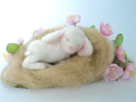 Handmade Easter Decorations - 17 handmade needle felted easter decorations